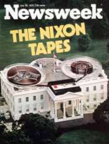 President Nixon refuses to comply with a subpoena for White House tapes and documents to investigate cover-up.