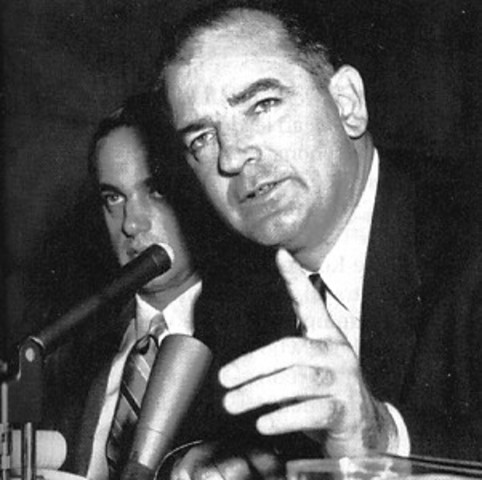 McCarthy and his witch hunts