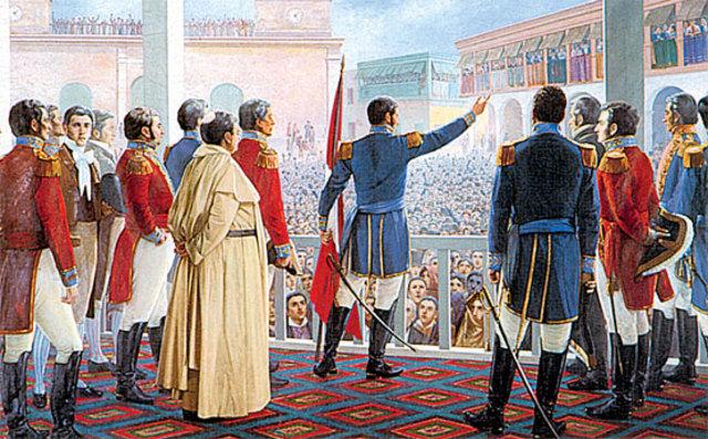 Don Jose de San Martin Proclama la Independencia