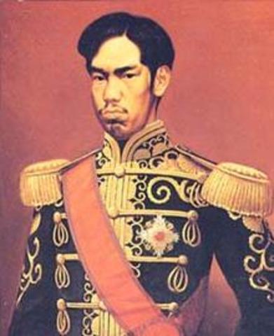 Meiji Emperor begins his rule