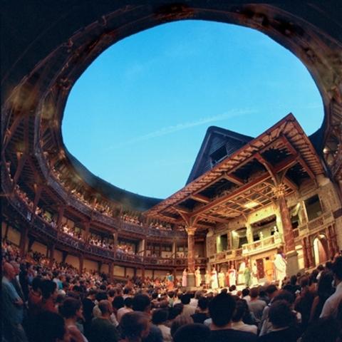 """Construcción del primer teatro """"The Theatre"""""""