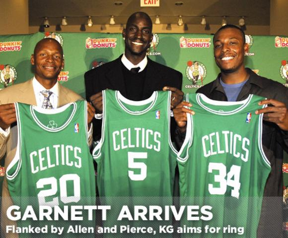 Kevin Garnett was traded to the Boston Celtics