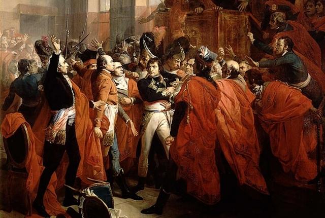Napoleon gains power by a coup d'etat