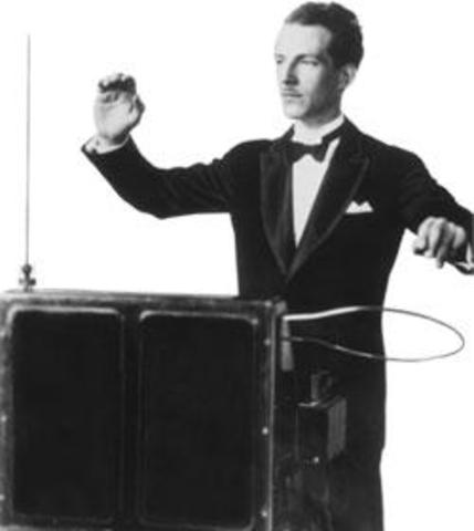 Leon Theremin works on the Theremin