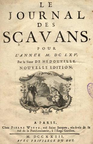 LE JOURNAL DE SAVANTS