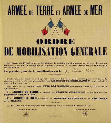 La France entre dans la guerre.