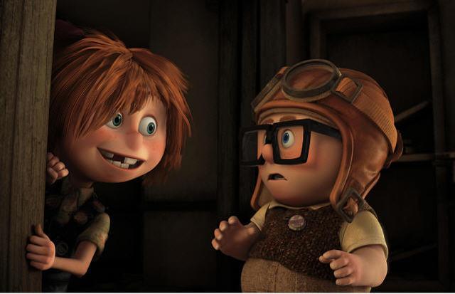 Carl meets Ellie.