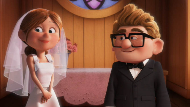 Carl and Ellie are married