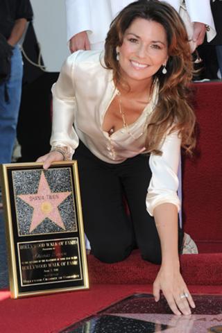 Shania's Hollywood Star!