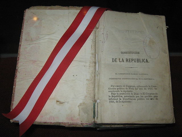 Promulgación de la Constitución de 1856