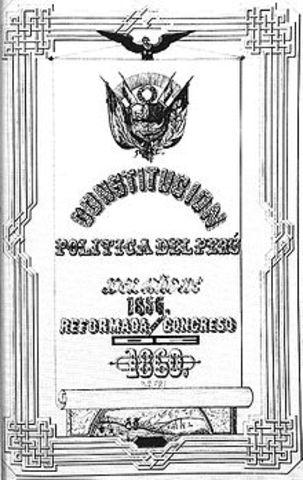 Promulgación de la Constitución de 1860