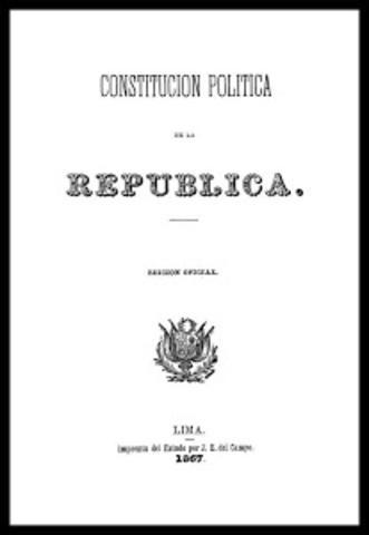 Promulgación de la Constitución de 1867