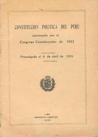Promulgación de la Constitución de 1933