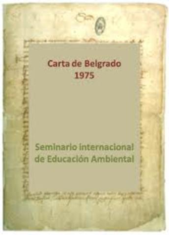 1er Seminario Internacional de Educación Ambiental en Belgrado en Belgrado