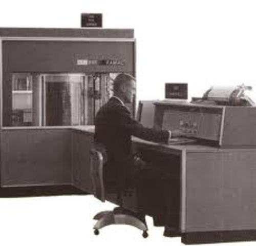The first computer hard disk used.