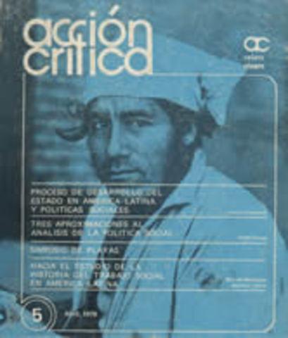"""Aparición de la revista """"Acción Crítica"""""""
