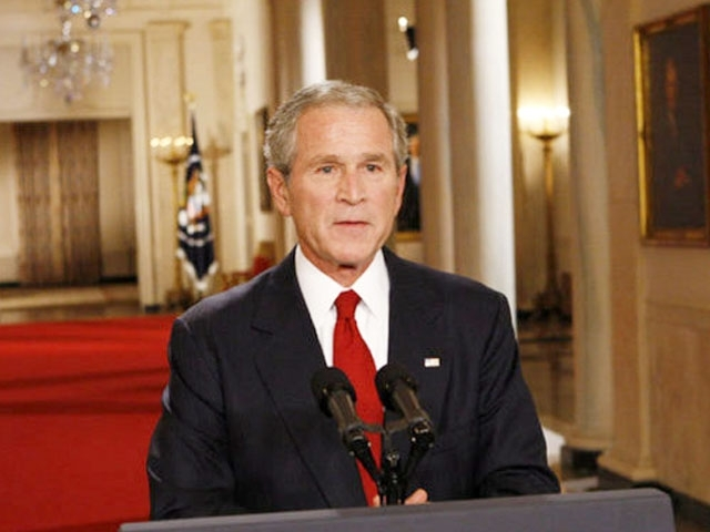 Bailout plan announced by Bush administration