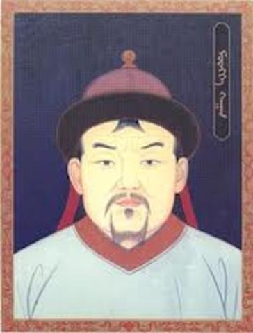 Mongol empire is founded