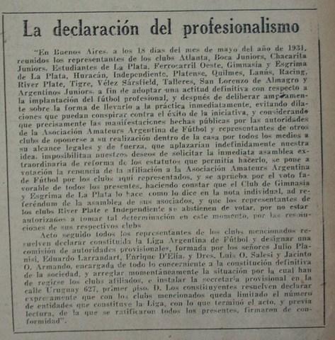 Profesionalismo y amateurismo