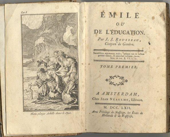 Rousseau published The Social Contract, Emile.