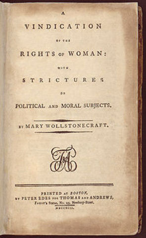 Enlightenment Philosopher Condorcet published a treatise on the rights of women.