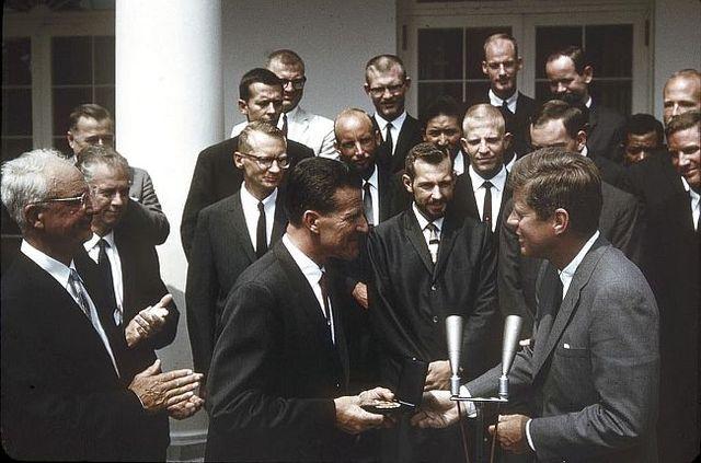 1963 All-American Team meets President John F. Kennedy
