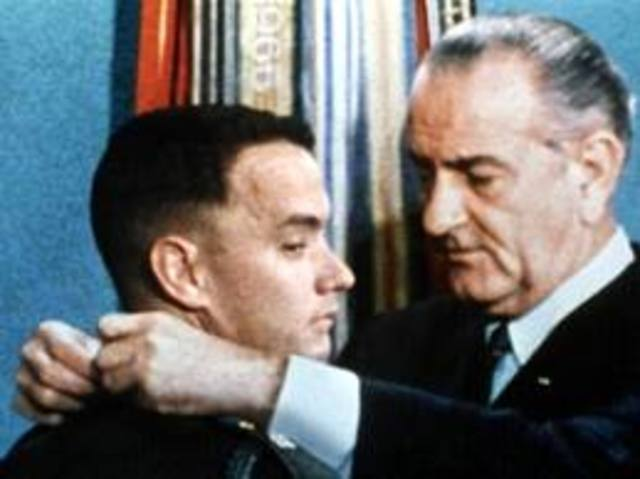 Forrest receives Medal of Honor and meets President Lyndon B. Johnson
