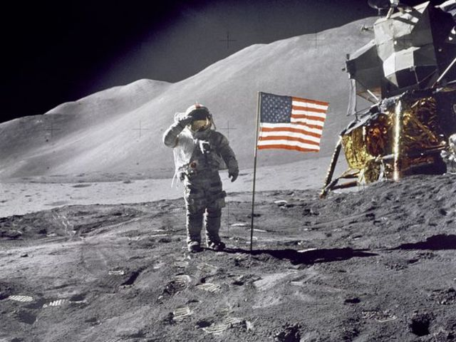 United States Lands On the Moon