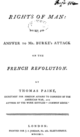 Thomas Paine's Rights of Man was written