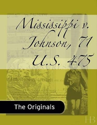Mississippi v. Johnson