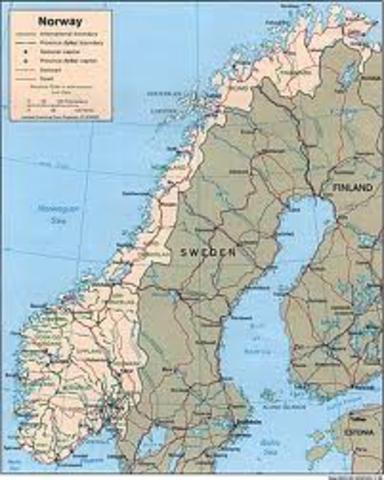 Norway surrenders tothe  Nazis