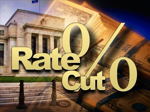 Fed cuts rate to 1%