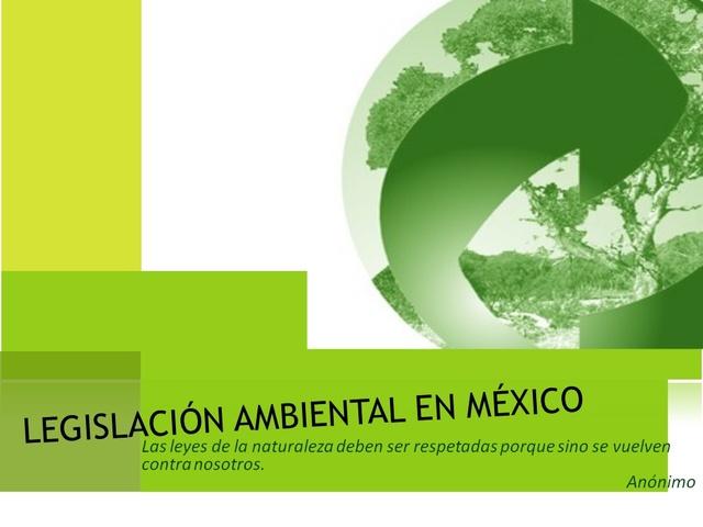 La Comisión de Ecología y Medio ambiente de la LVII Legislatura de la Cámara de Diputados, solicitó la reforma al articulo 39 de la LGEEPA, que fue aprobada en noviembre de 1999, México
