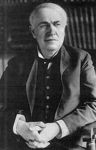 Thomas Edison invents the electrin light bulb