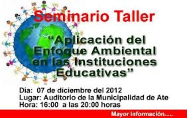 Seminario-Taller regional sobre Educación e Información en Medio Ambiente, Población y Desarrollo Humano Sustentable