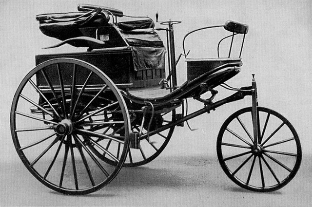 Karl Benz invents first petrol automobile
