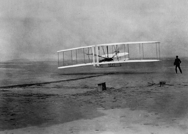 Wright Brothers invent first powered flight