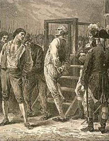 Danton and his Supporters are Executed