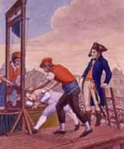 Robespierre is Arrested and Guillotined