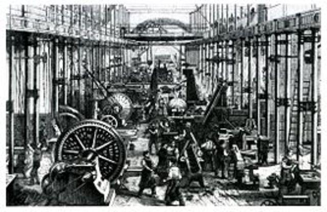 The Industrial Revolution happened in Britain