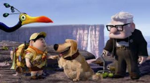 Carl, Russell and Kevin meet Dug.