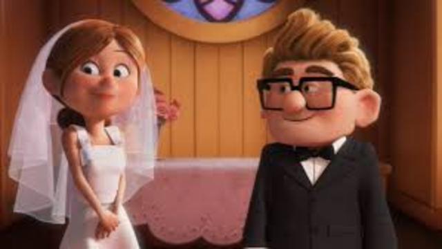 Carl and Ellie get married