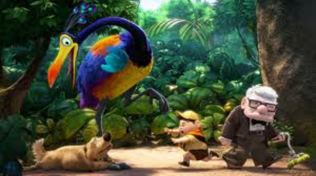 Russell find a big bird and names it Kevin