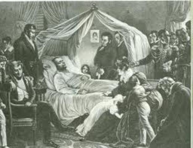 Napoleon dies at St. Helena