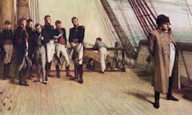 Napoleon is Exiled to St. Helena