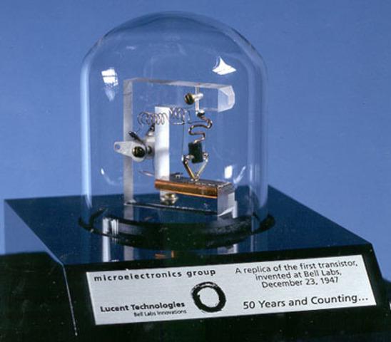 el transistor es patentado