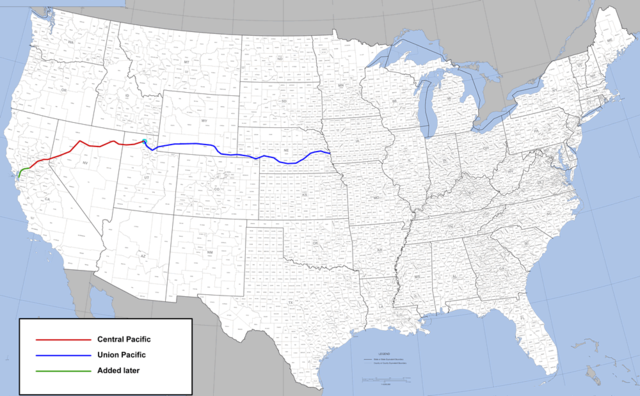 First Transcontinental Railroad completed