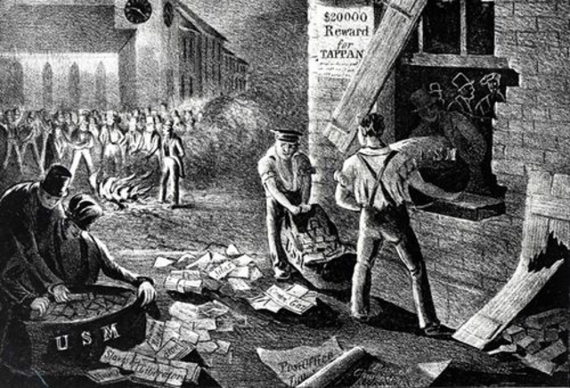 U.S. Post Office Orders Destruction of Abolitionist Mail