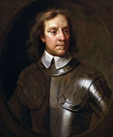 Oliver Cromwell becomes king