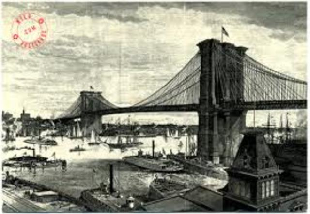 Completion of the Brooklyn Bridge